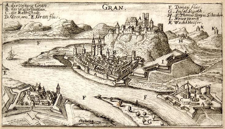 A vár középkori metszete